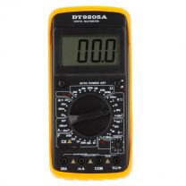 DT9205A Multimeter - LCD Display Ammeter Voltmeter Ohmmeter Capacimeter Multitester w Lead