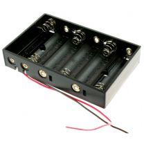 6X AA battery casing